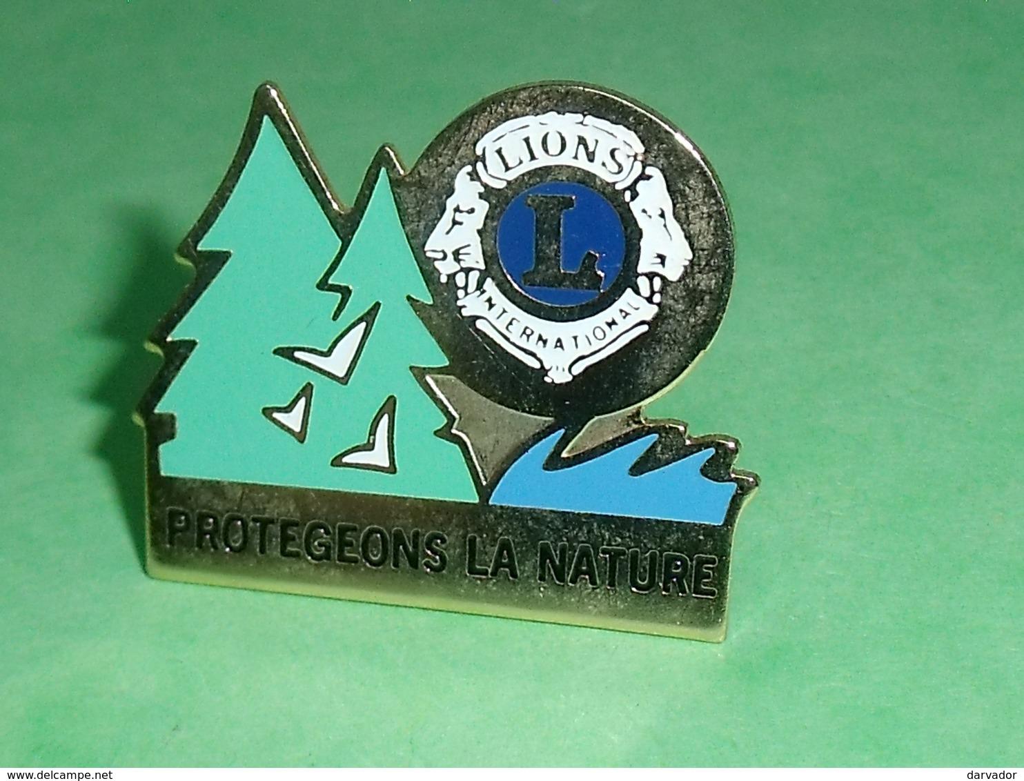 Pin's / Associations  : Lions Club , Protegeons La Nature ( 3 X 2.5 Cm ) TB1CC - Verenigingen