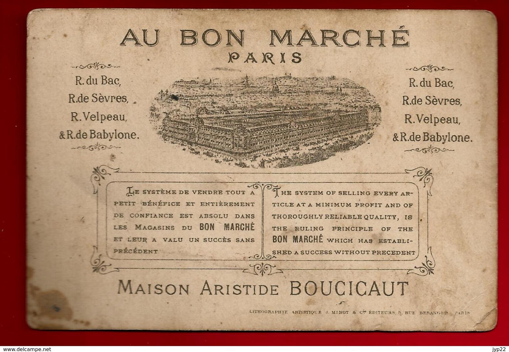 Chromo Au Bon Marché Boucicaut Paris Le Baptême - Litho Minot - Au Bon Marché