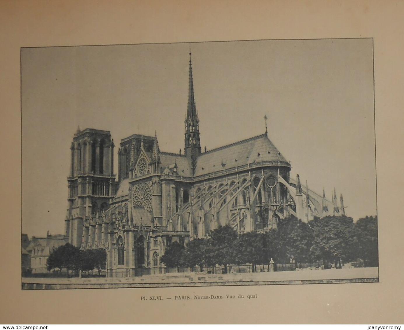 Photogravure. Paris. Notre Dame. Vue Du Quai. Fin XIXe. - Photographie