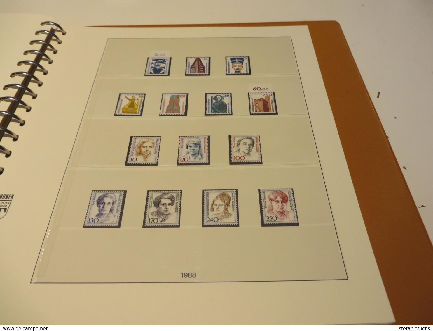 DEUTSCHLAND / BUND  1977 Bis 1989  LINDNER - T - VORDRUCKTEXT  Mit  Ein  Posten  ** /  MARKEN  Im  RINGBINDER - Collections (with Albums)