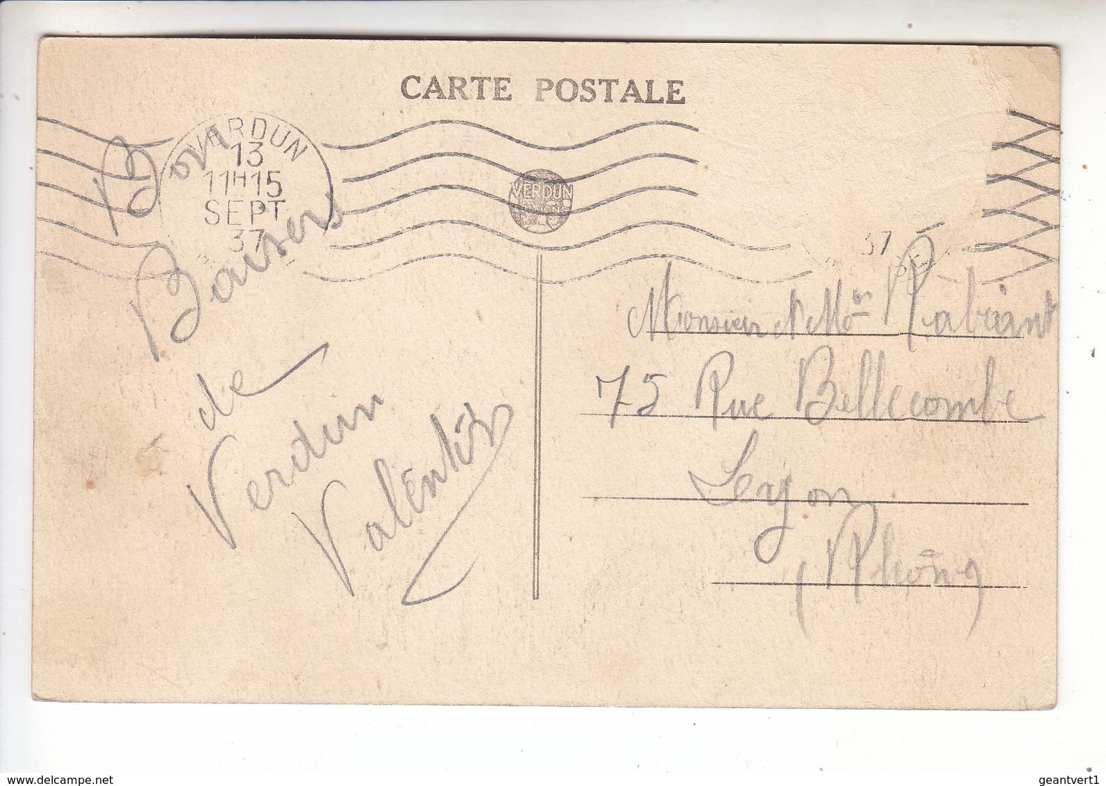 Sp- 55 - VERDUN - Cour D'honneur De L'hotel De Ville - Canon - Obus - Bombe - Cachet - 1937 - Verdun
