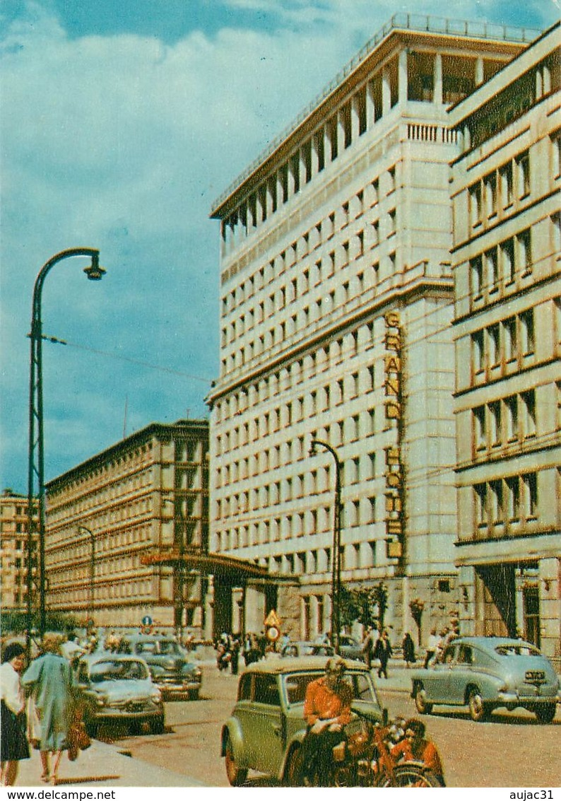 Pologne - Poland - Warszawa - Grand Hôtel - Semi Moderne Grand Format - Voitures - Automobile - Motos - Moto - état - Pologne