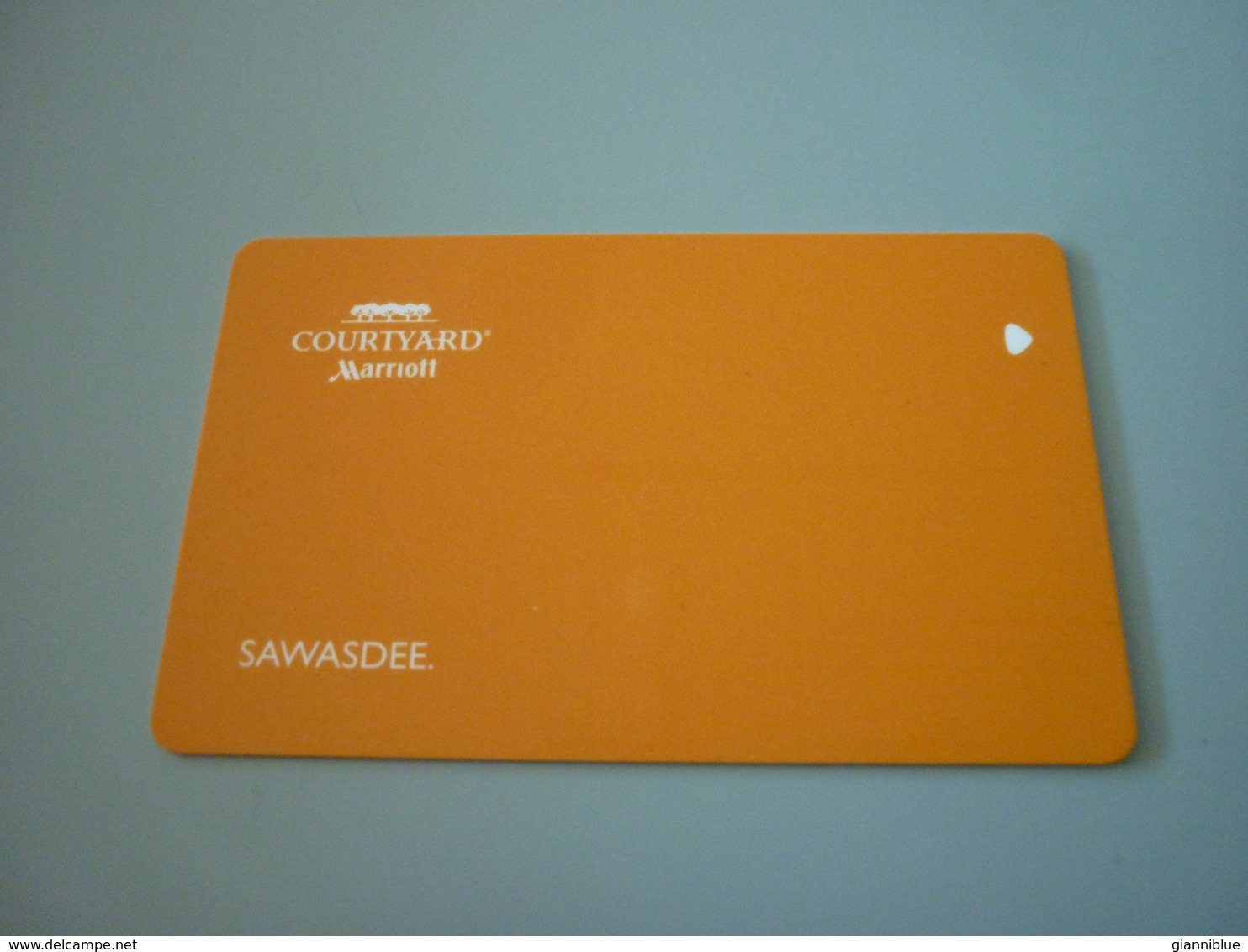 Thailand Sawasdee Courtyard Marriott Hotel Room Key Card - Cartes D'hotel
