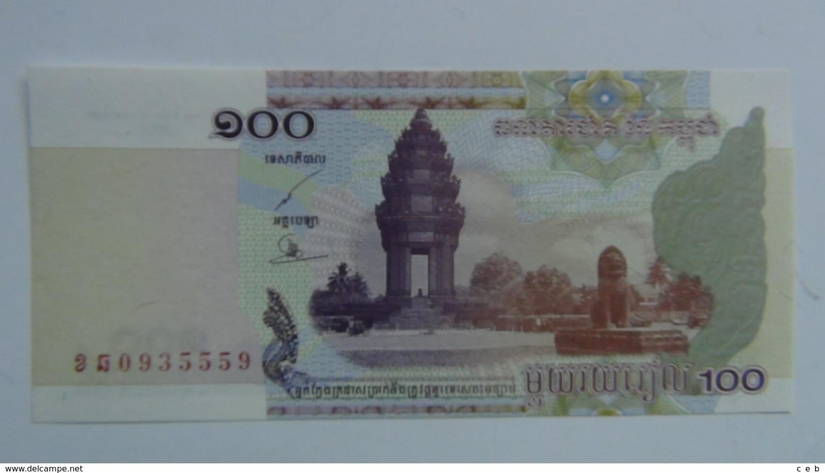 Billete Camboya. 100 Riels. 2001. Sin Circular - Cambodia