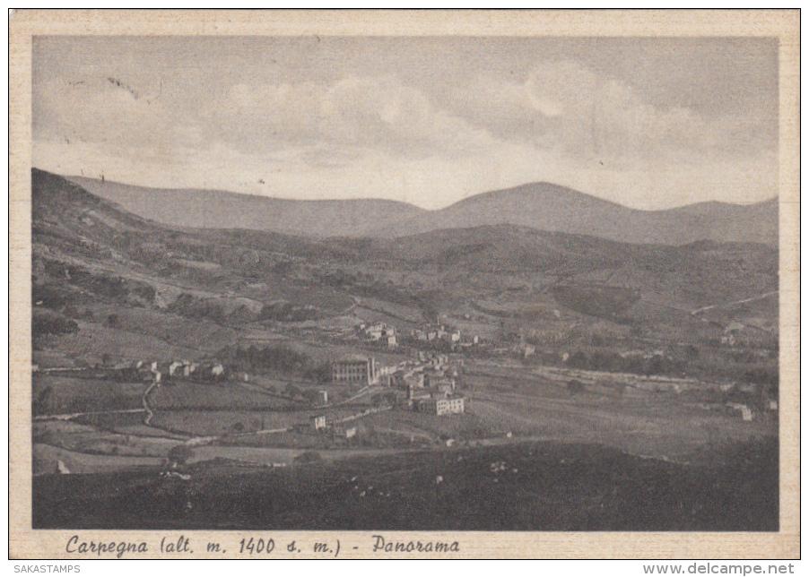 1942-Carpegna Pesaro, Panorama, Viaggiata - Pesaro