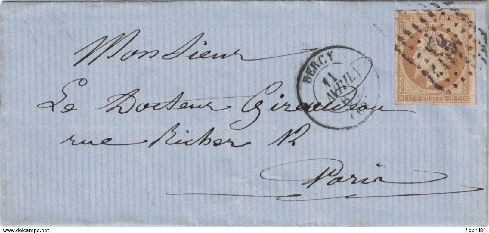 SEINE - BERCY - EMPIRE N°13 OBLITERATION PC367 -  LE 11 AVRIL 1862 - (P1) - 1849-1876: Classic Period