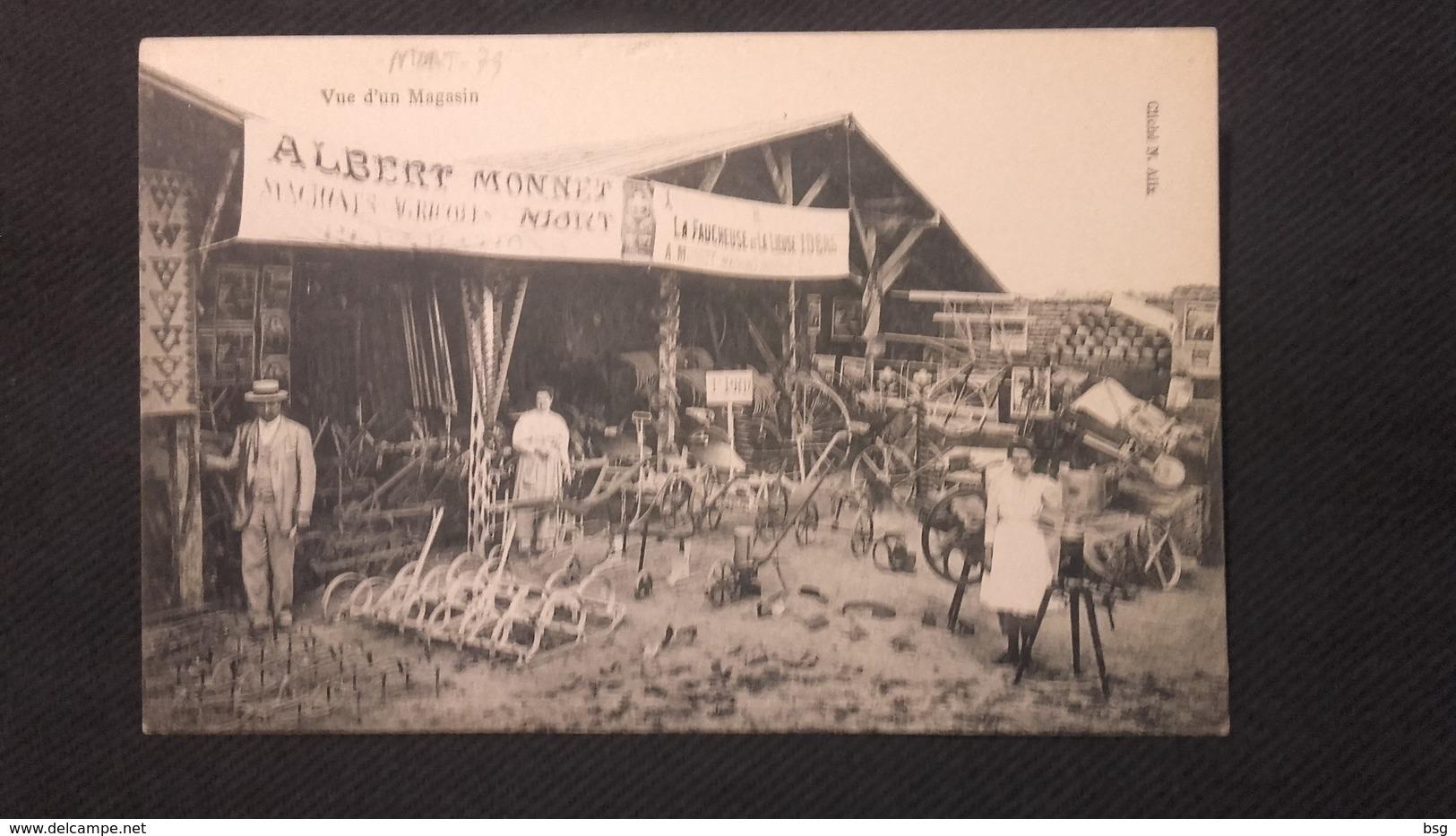 Cpa 79 Niort -  Albert Monnet Vue D'un Magasin - Niort