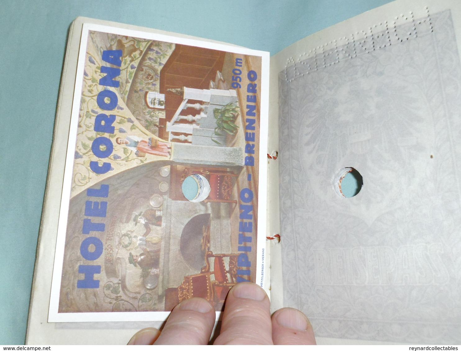 1948 Austria Reisepass Passport, Bregenz. Swiss, German, French Visa/handstamps Some Fiscals - Historical Documents