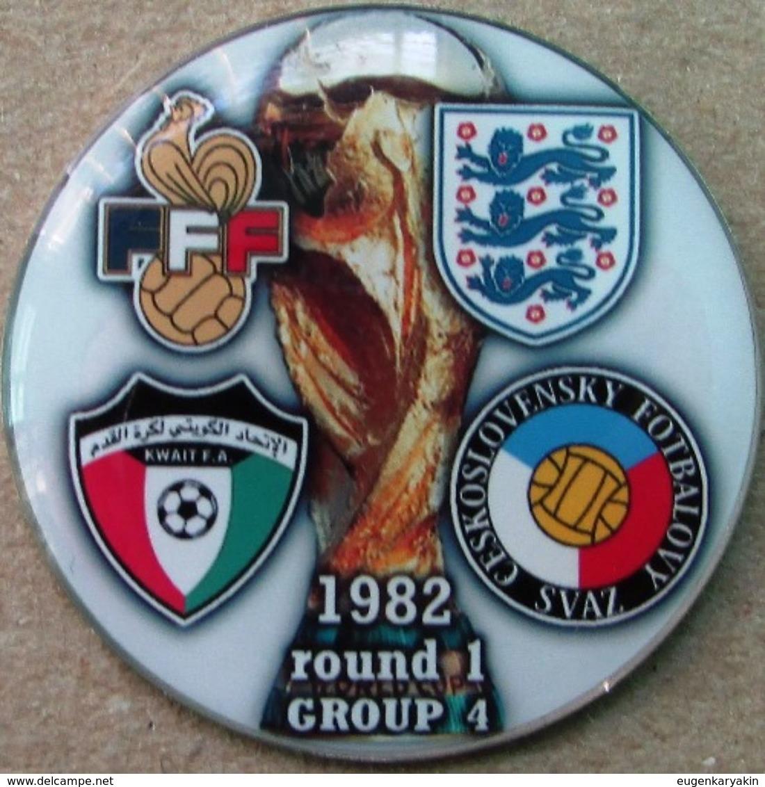 Pin FIFA World Cup 1982 Group 4 Round 1 England France Kuwait Czechoslovakia - Fussball