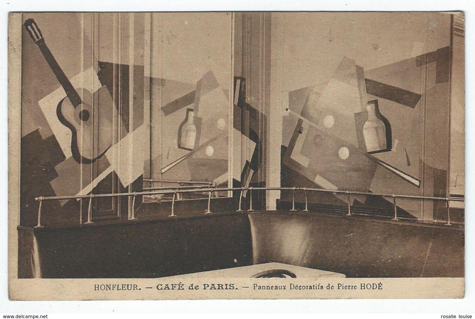 HONFLEUR (14) - Café De Paris - Panneaux Décoratifs De Pierre Hodé - Honfleur