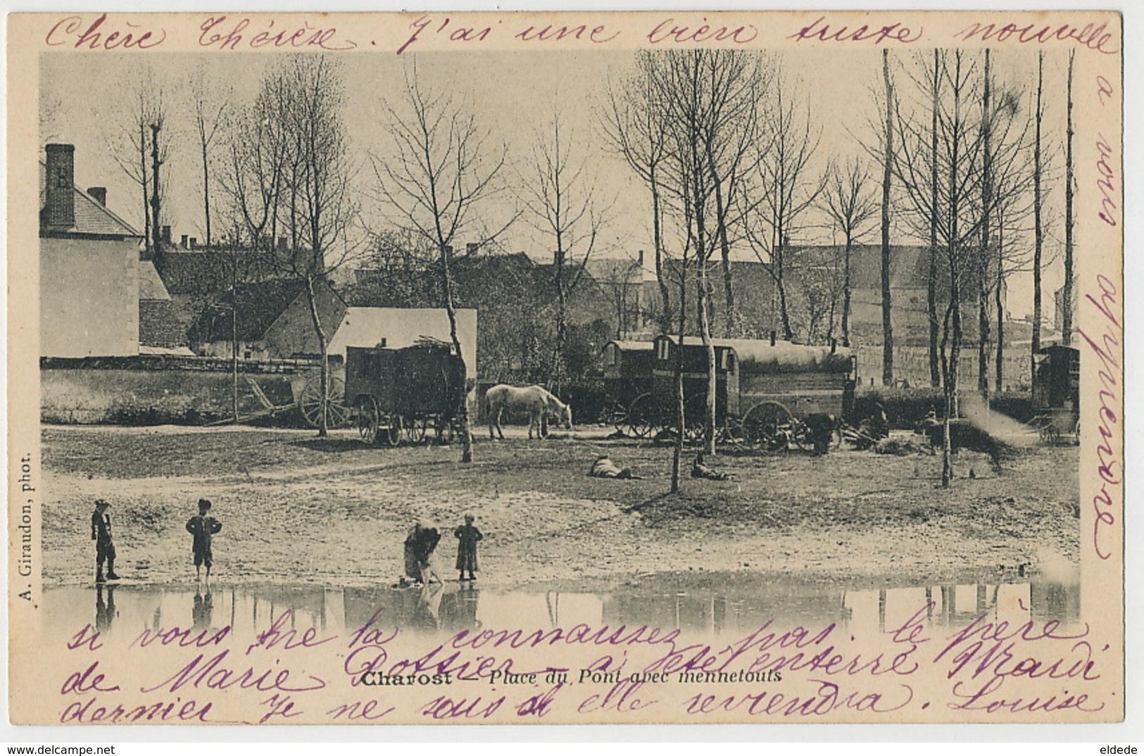 Tziganes Roms Gypsy Mennetouts à Charost France Romanichels Bohemiens - Europe