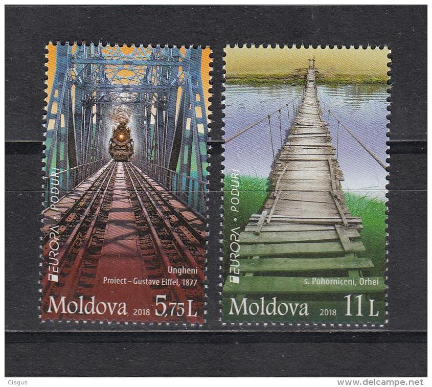 Moldova Moldawien 2018 MNH ** Mi. Nr. 1031-32 Europe CEPT Bridges - Moldawien (Moldau)