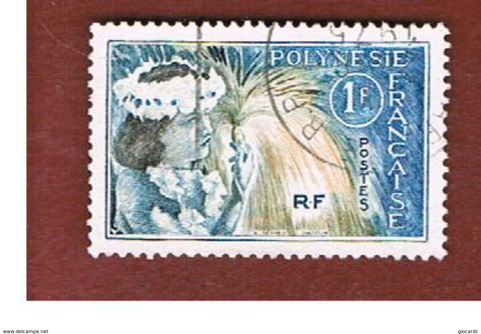 POLINESIA FRANCESE  (FRENCH POLYNESIA ) - SG 33  - 1964 TAHITIAN DANCER - USED° - Usati