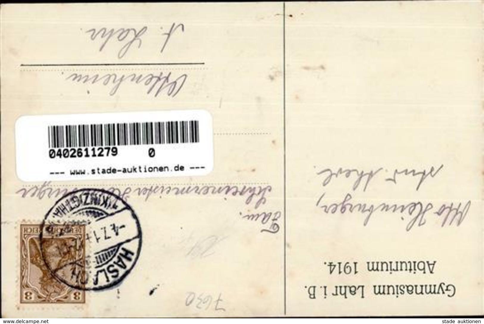 Studentika Lahr (7630) Abiturium 1914 I-II (fleckig) - Ansichtskarten