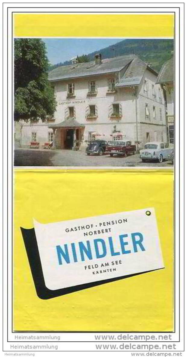 Gasthof Und Pension Norbert Nindler - Feld Am See - Faltblatt Mit 5 Abbildungen - Oesterreich
