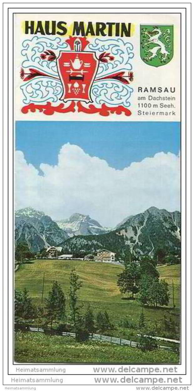 Haus Martin - Besitzer Martin Und Erika Wieser - Ramsau Am Dachstein - Enntal - Faltblatt Mit 12 Abbildungen - Oesterreich