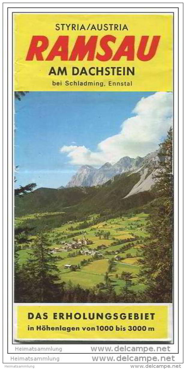 Ramsau Am Dachstein - Enntal - Faltblatt Mit 19 Abbildungen - Wohnungsnachweis Und Übersichtsplan - Oesterreich