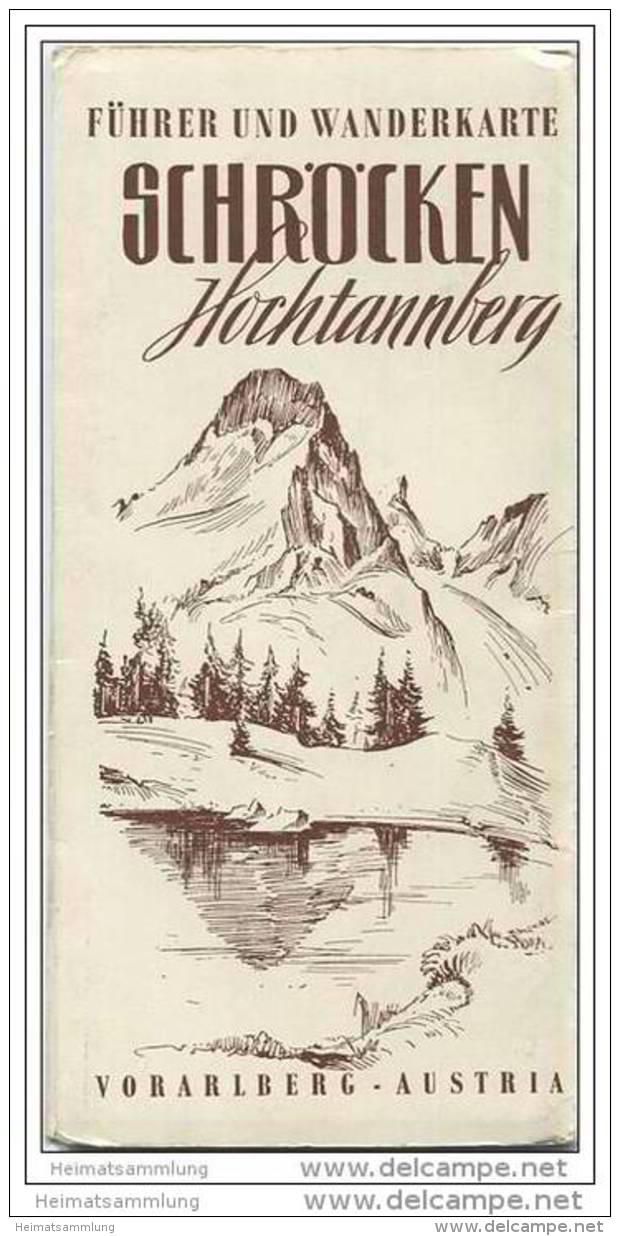 Schröcken - Hochtannberg - Führer 24 Seiten Und Wanderkarte - Spaziergänge Wanderungen Und Bergtouren - Oesterreich