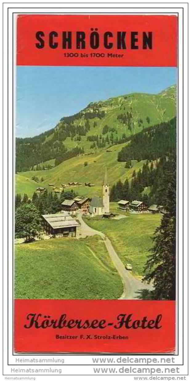 Schröcken - Faltblatt Mit 10 Abbildungen - Hotel Körbersee Preise - Oesterreich