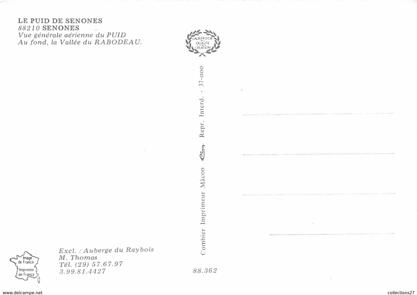 88-SENONES- LE PUID DE SENONES- VUE AERIENNE GENERALE - Senones