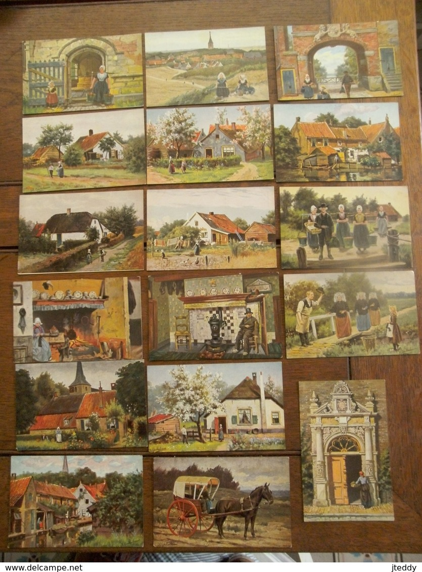 Lot Van 17 Postkaarten  Illustrator Joh  Gerstenhauer  Rond 1920 - Autres Illustrateurs