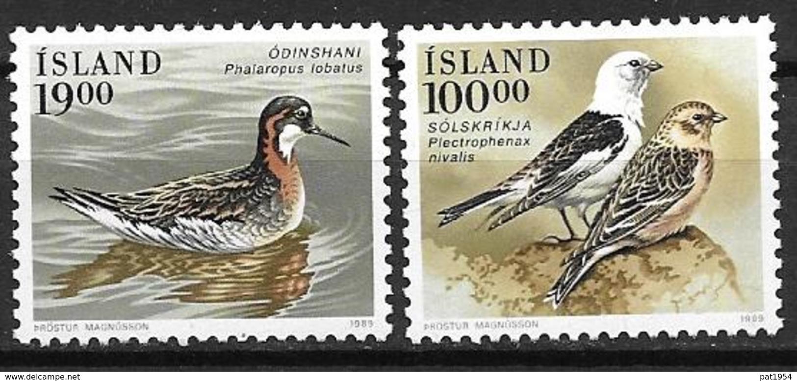 Islande 1989 N° 650/651 Neufs Oiseaux - 1944-... Republique