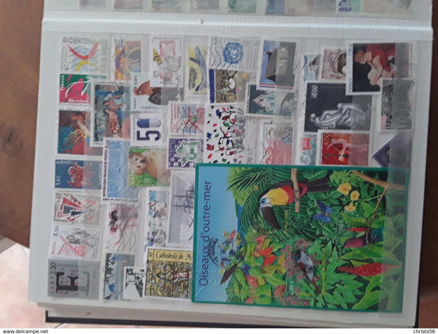 FRANCE- ALBUM TIMBRES OBLITERES Merson-Mouchon-Semeuse- PA-Préo-Taxe Ect.;  ALBUM Y&T 1969 à 1999 - Stamps