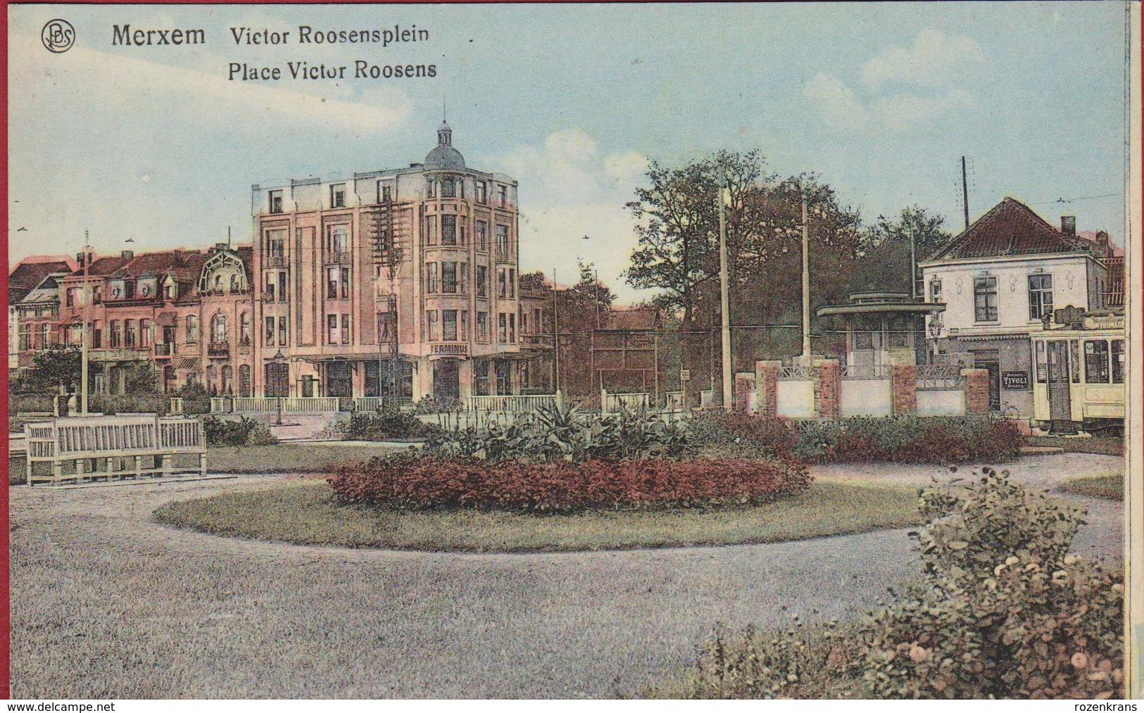 Merksem Victor Roosensplein Place Victor Roosens Tram (In Zeer Goede Staat) - Antwerpen