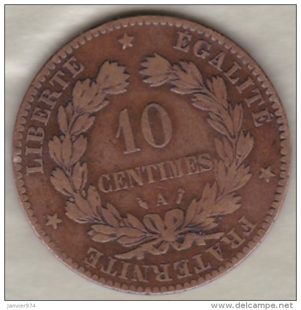 10 Centimes Cérès 1885 A Paris - France