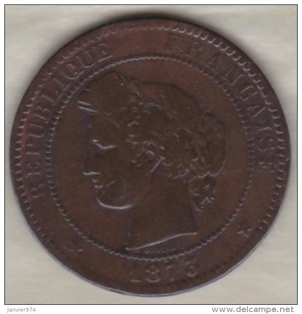 10 Centimes Cérès 1873 K Bordeaux - France