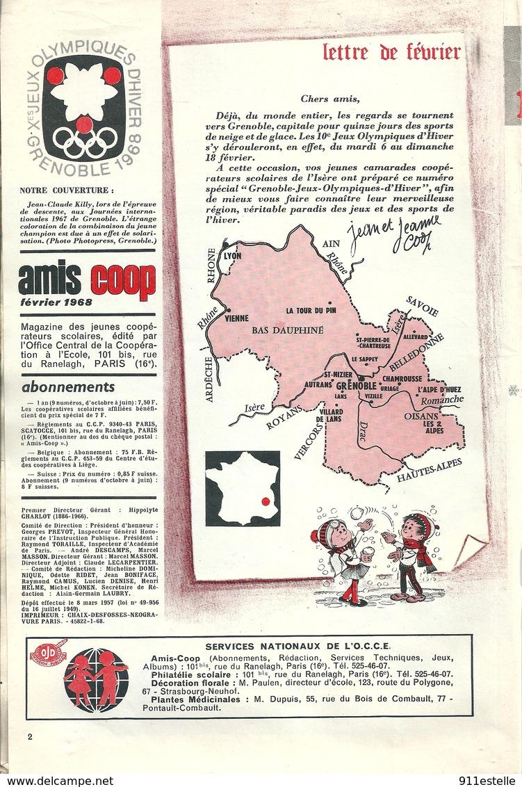 Ski 38  GRENOBLE  JEUX OLYMPIQUES D 'HIVER  1968 ( Mensuel 19 X 28 , 48 Pages ) - Grenoble