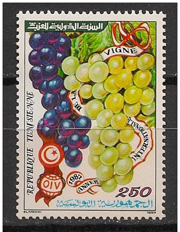 Tunisie - 1987 - N°Yv. 1090 - Vigne / Grapes - Neuf Luxe ** / MNH / Postfrisch - Frutas