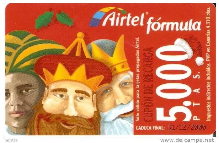 ACR-061 TARJETA DE ESPAÑA DE NAVIDAD  REYES MAGOS (CHRISTMAS) - Airtel
