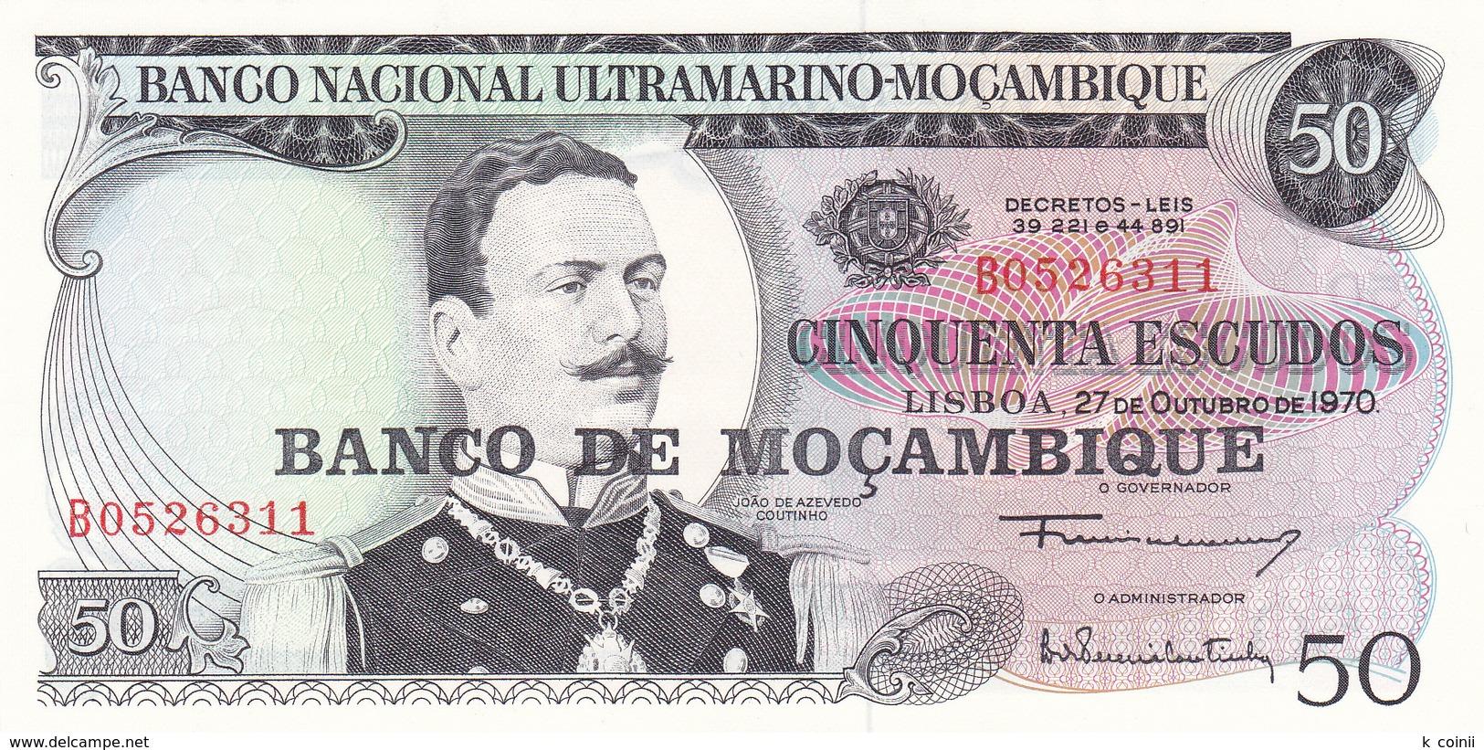 Mozambique - 50 Escudos Not Dated P116 - UNC - Mozambique