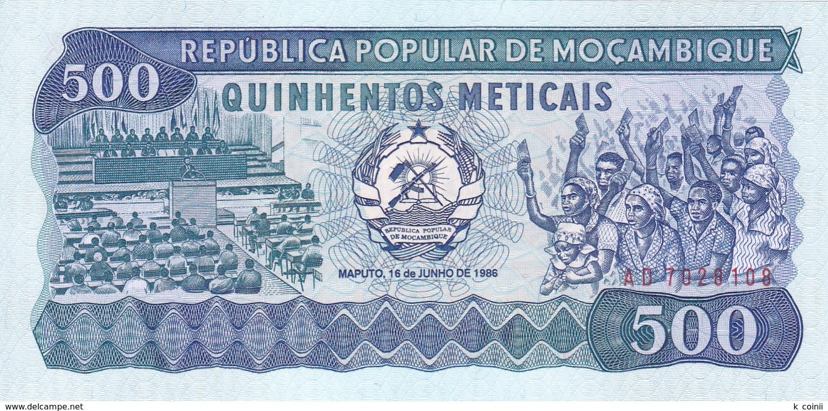 Mozambique - 500 Meticais 16 Jun 1986 - UNC - Mozambique