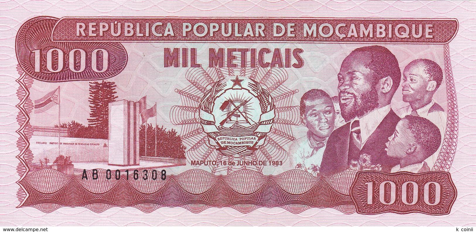 Mozambique - 1000 Meticais 16 Jun 1983 - UNC - Mozambique