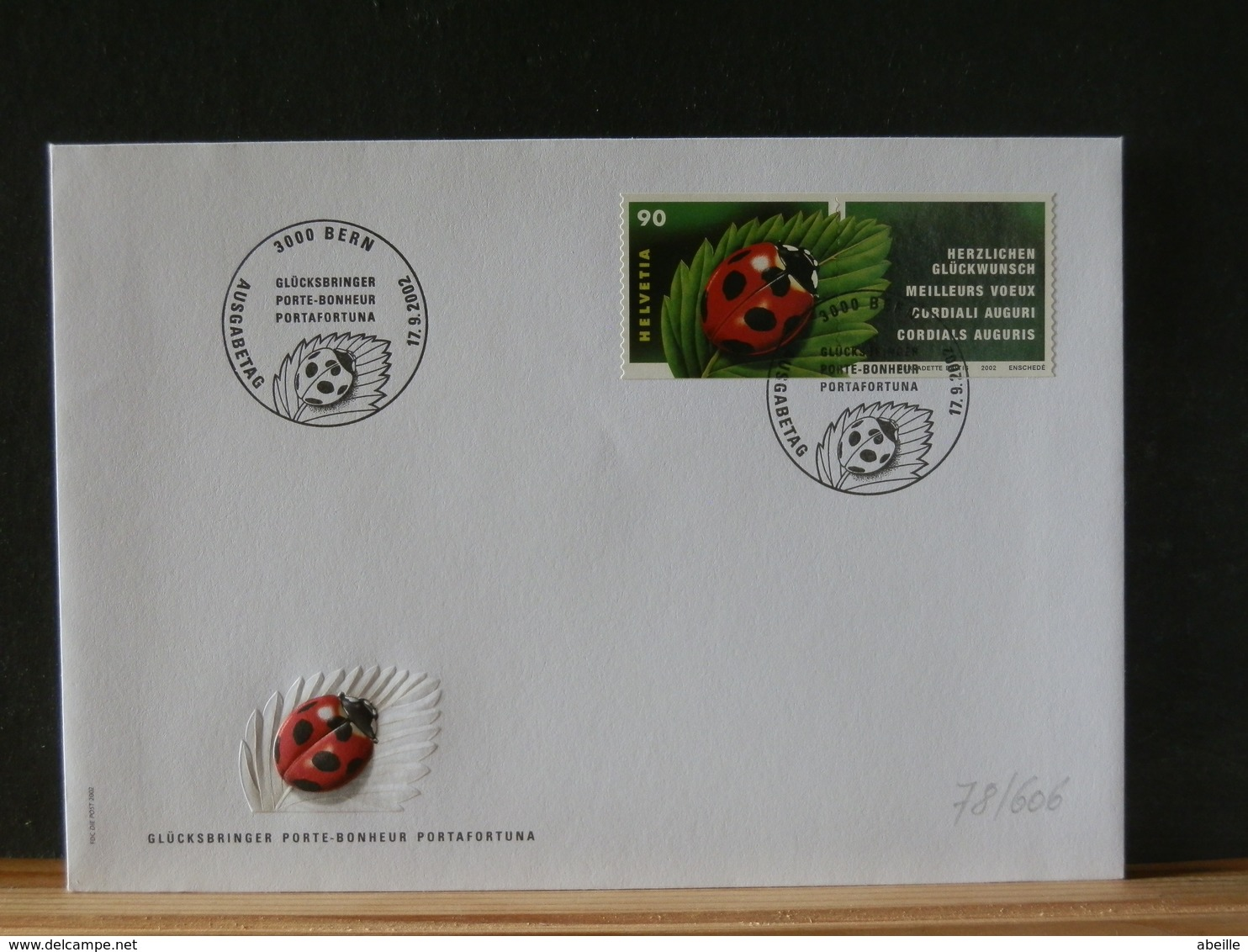 78/606  FDC  SUISSE - Insects