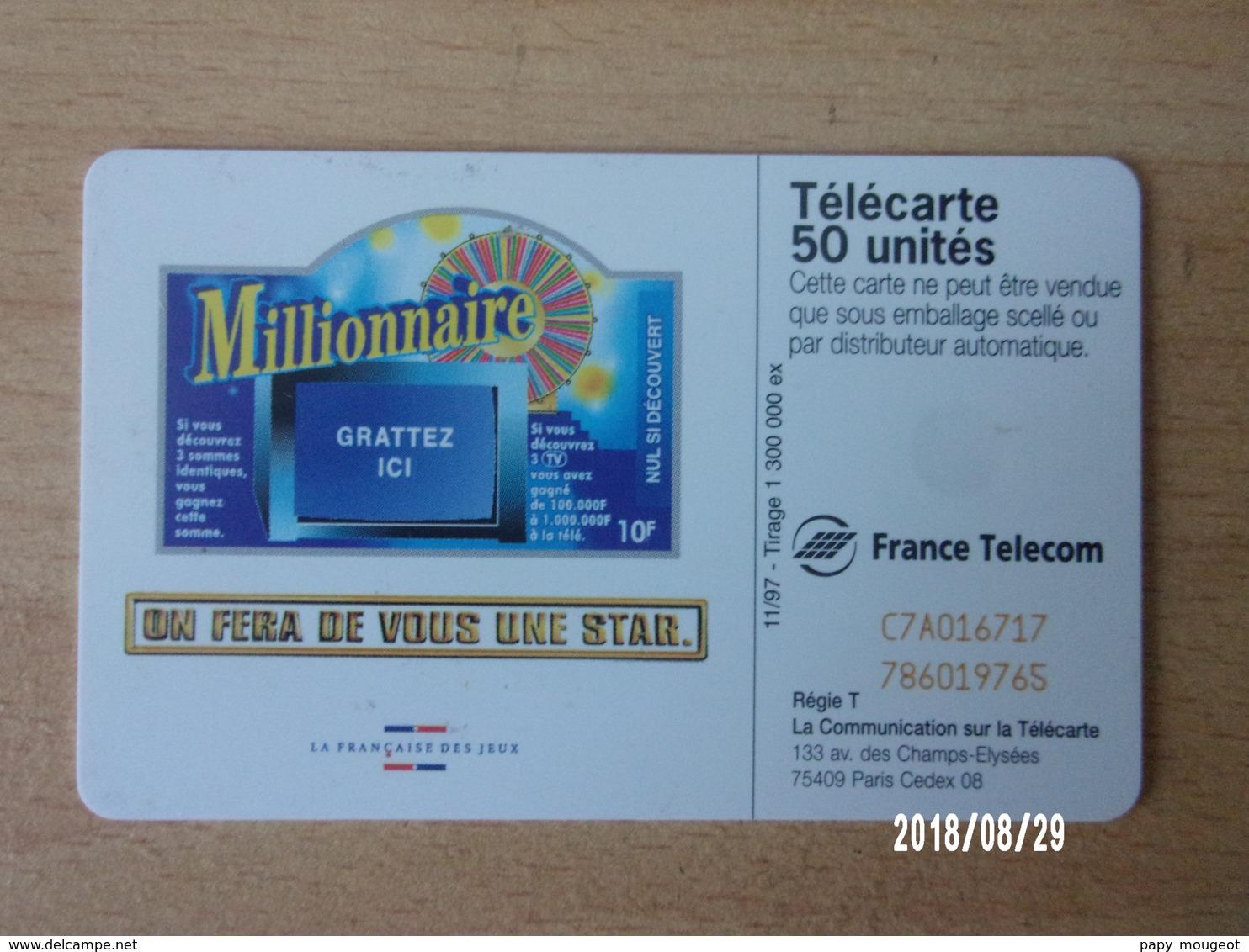 F802 Millionnaire 50U SC7 - Jeux