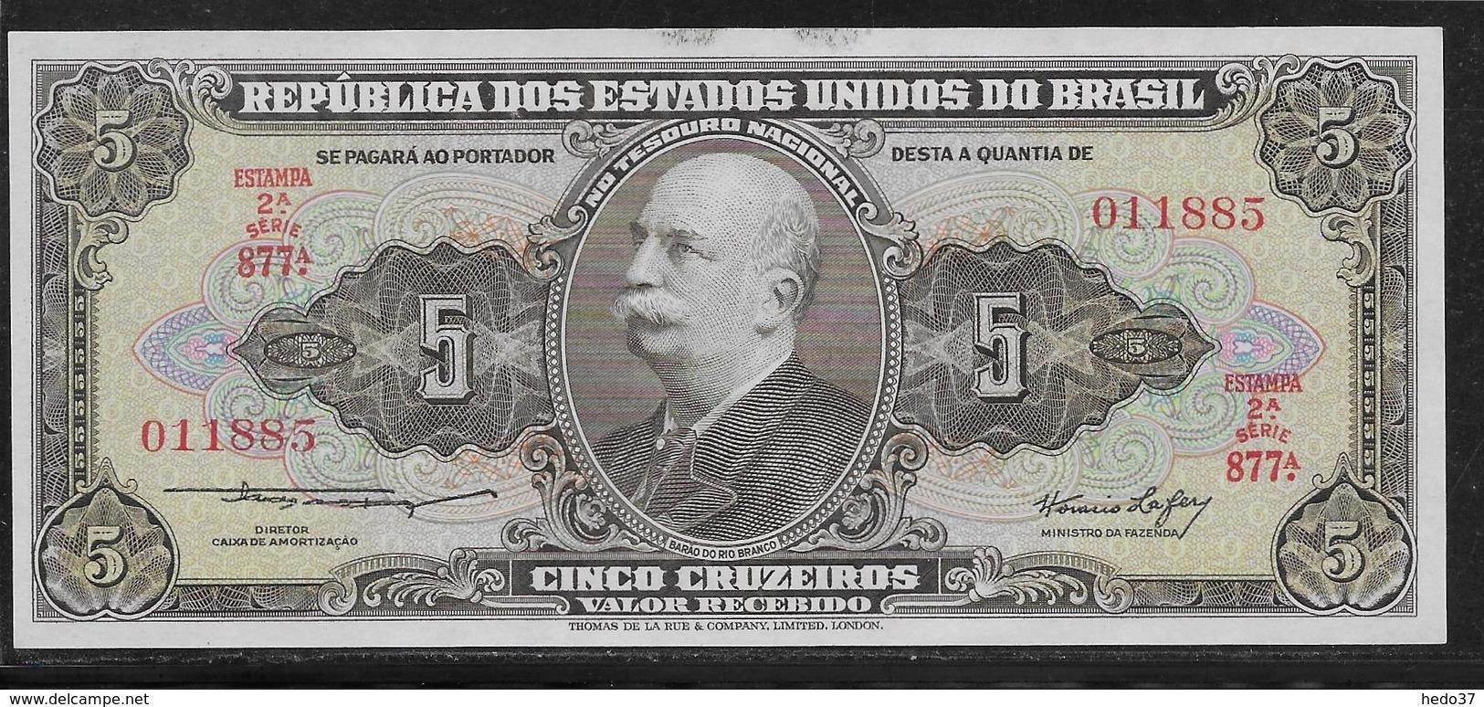 Brésil - 5 Cruzeiros  - Pick N° 176 - NEUF - Brésil