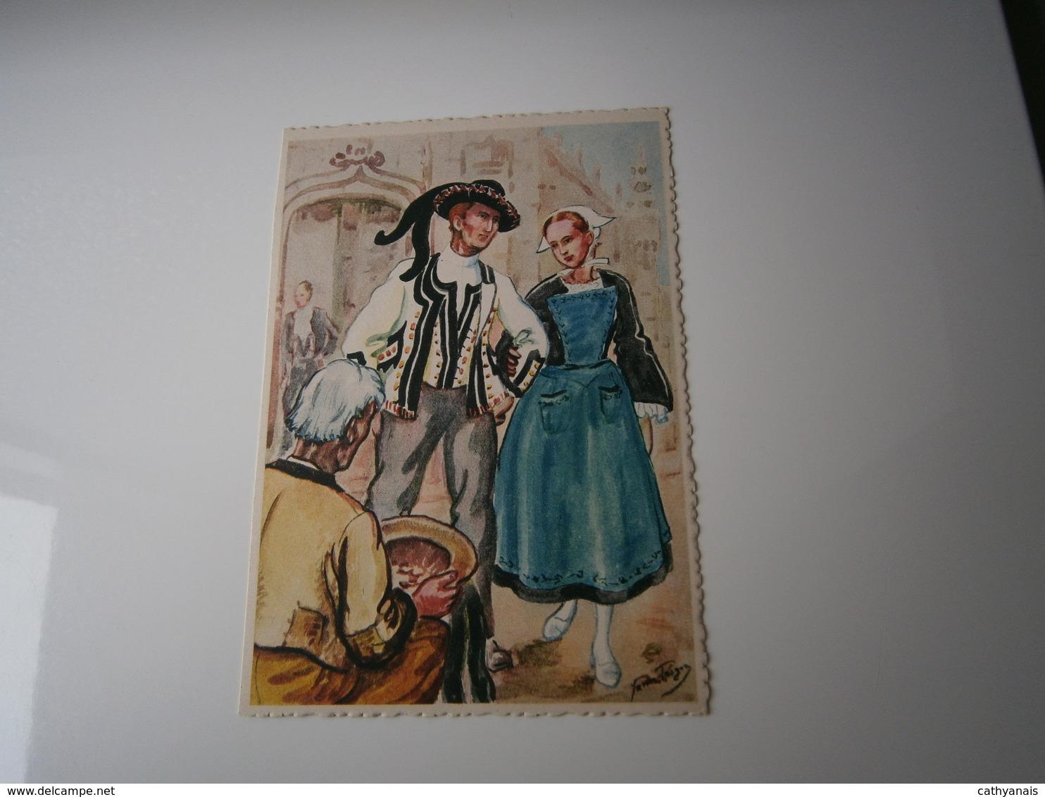 ILLUSTRATION YANN TREGOR  * AU PAYS DES MOUTONS BLANCS - MORBIHAN * IMAGES DE BRETAGNE (N° 11) - Other Illustrators