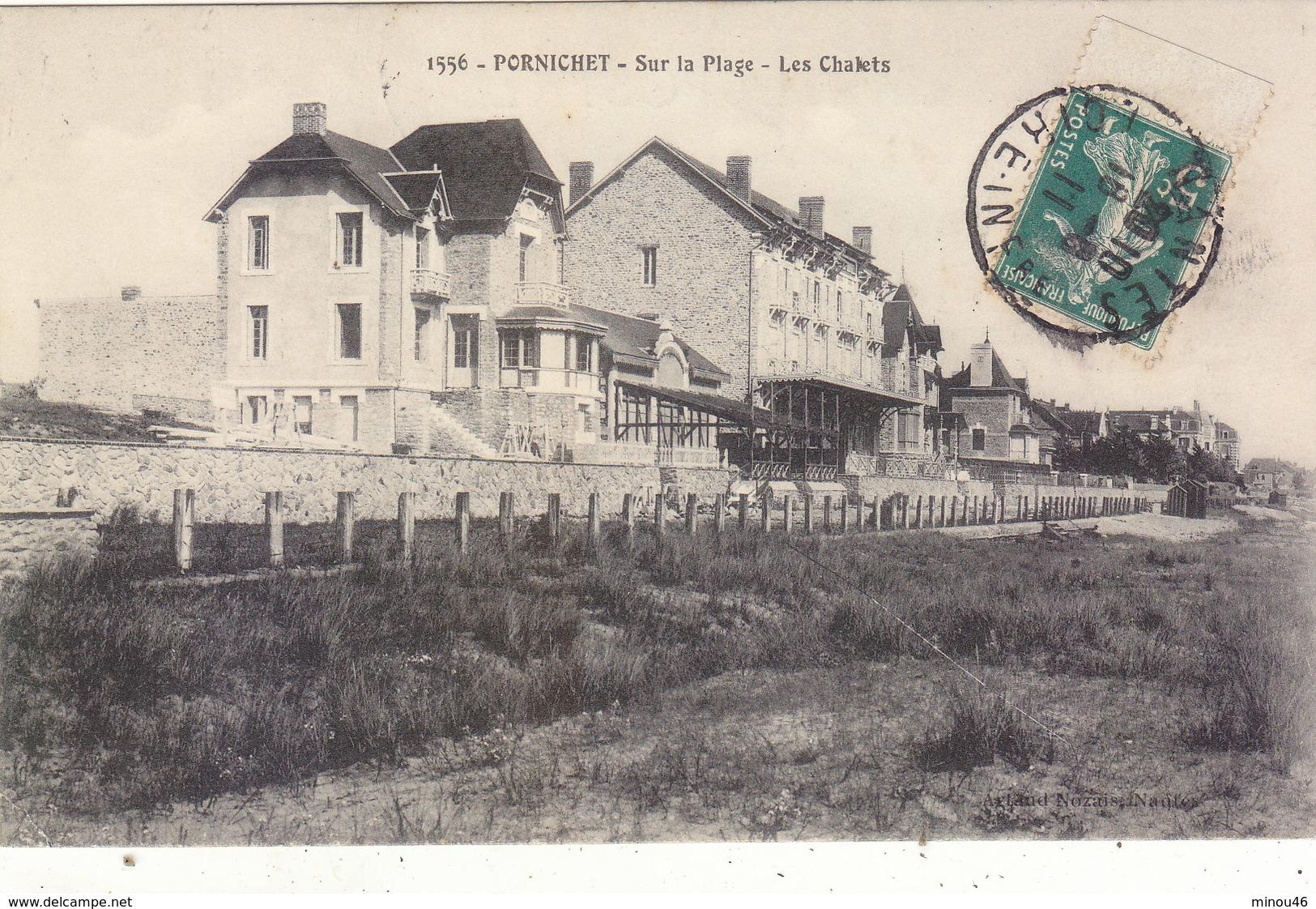 PORNICHET : LES CHALETS SUR LA PLAGE.1911.B.ETAT.PETIT PRIX.COMPAREZ!!! - Pornichet