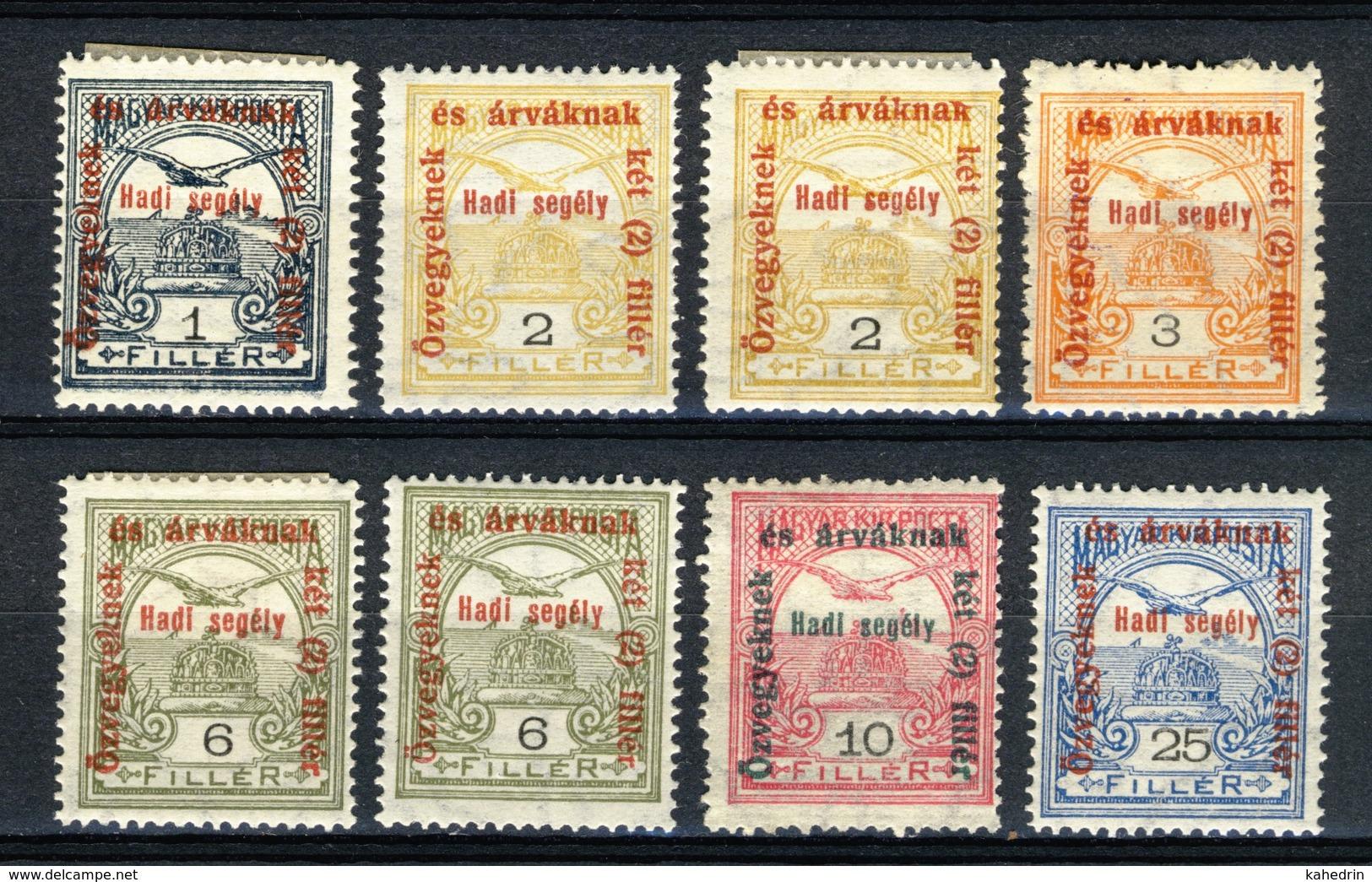 Hungary Magyar Posta Ungarn 1915, Turul With Overprint *, MLH - Ongebruikt