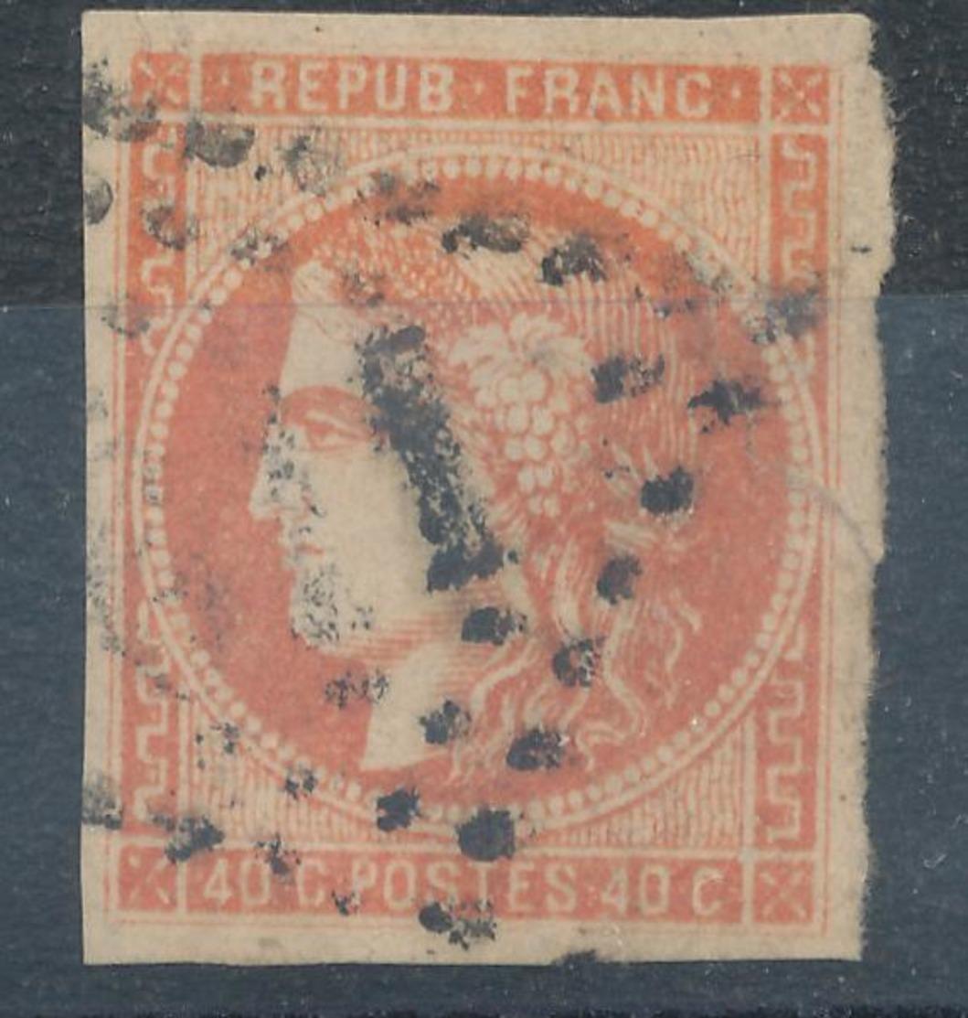 N°48 NUANCE ET OBLITERATION - 1870 Bordeaux Printing