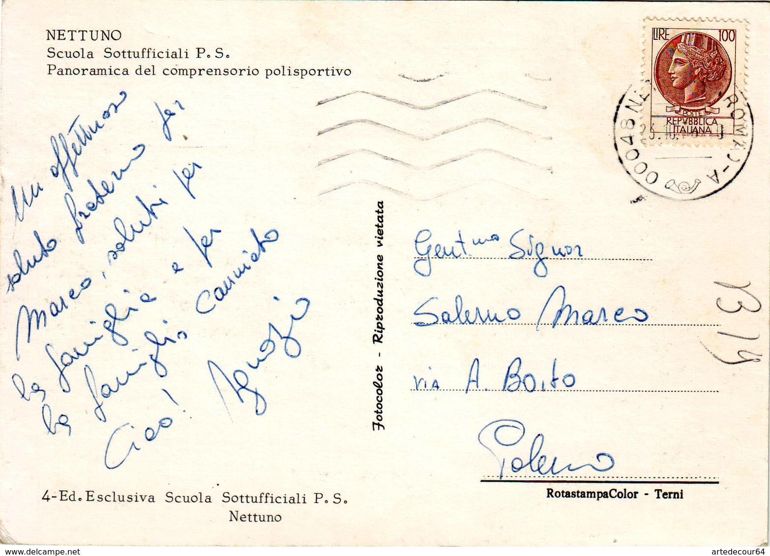 Nettuno (roma) Scuola Sottufficiali P.S. - Viaggiata - Tivoli