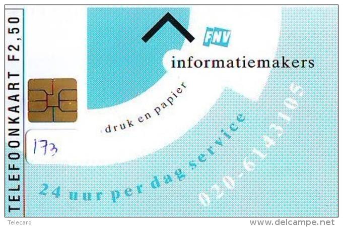 NEDERLAND CHIP TELEFOONKAART CRD-173 * FNV * Telecarte A PUCE PAYS-BAS ONGEBRUIKT  MINT - Nederland