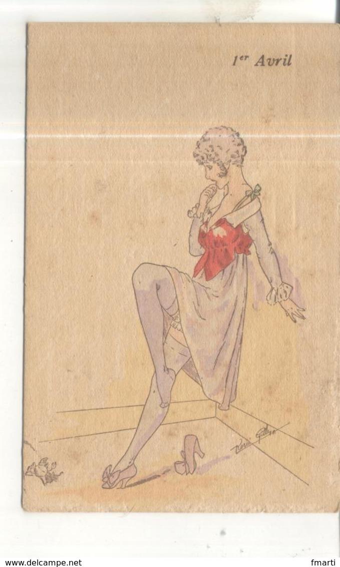 Carte 1er Avril, Surprises Féminines, Série 364, Illustrateur René Gilles - April Fool's Day