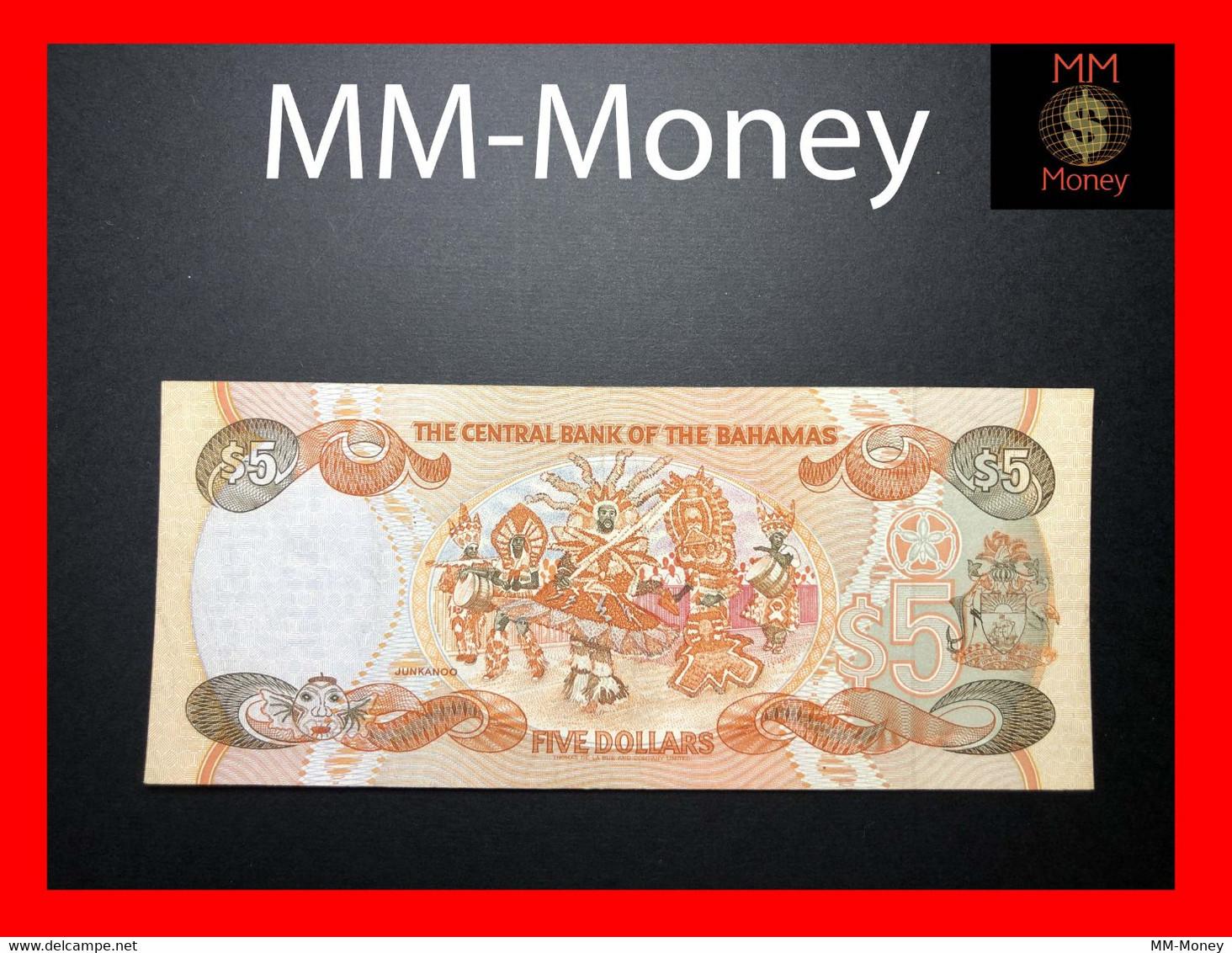 BAHAMAS 5 $ 1995 P. 52  VF \ XF - Bahamas