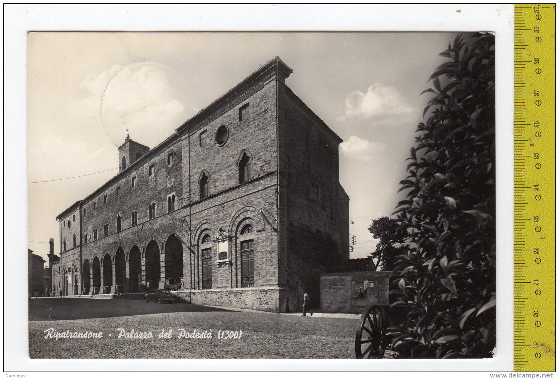 1963 RIPATRANSONE Palazzo Del Podestà FG V See 2 Scans - Altre Città