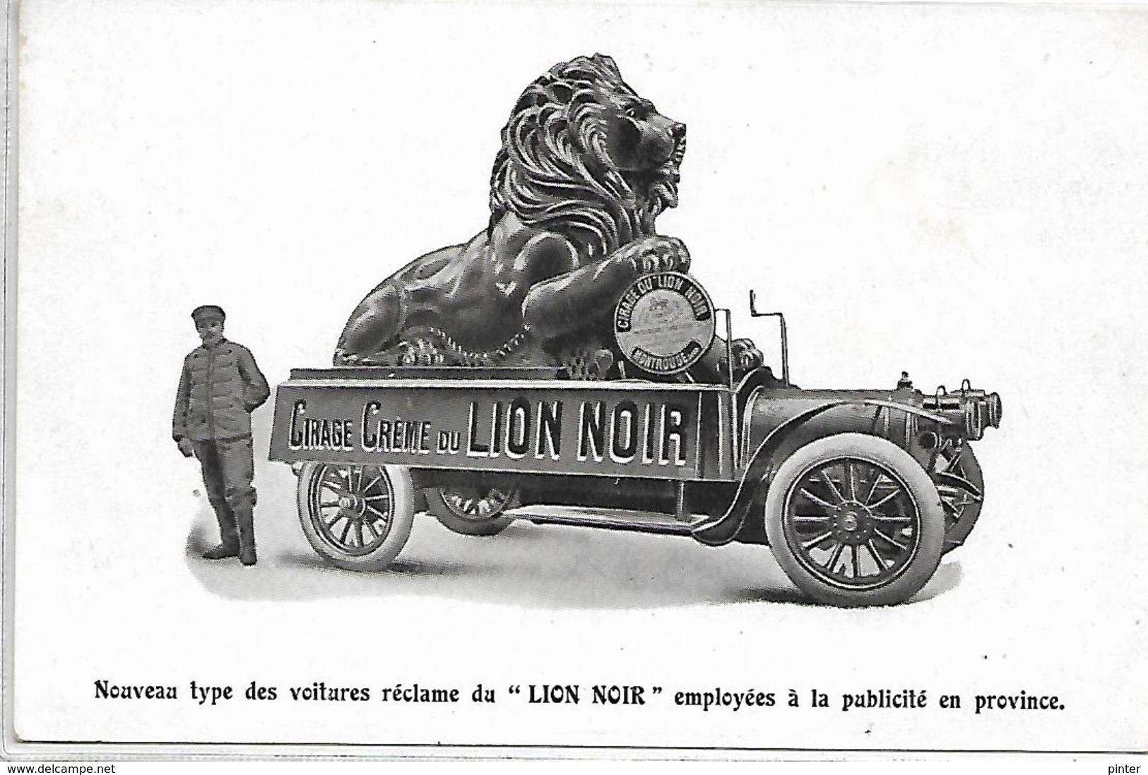 PUBLICITE - Cirage Crème Du LION NOIR - Werbepostkarten