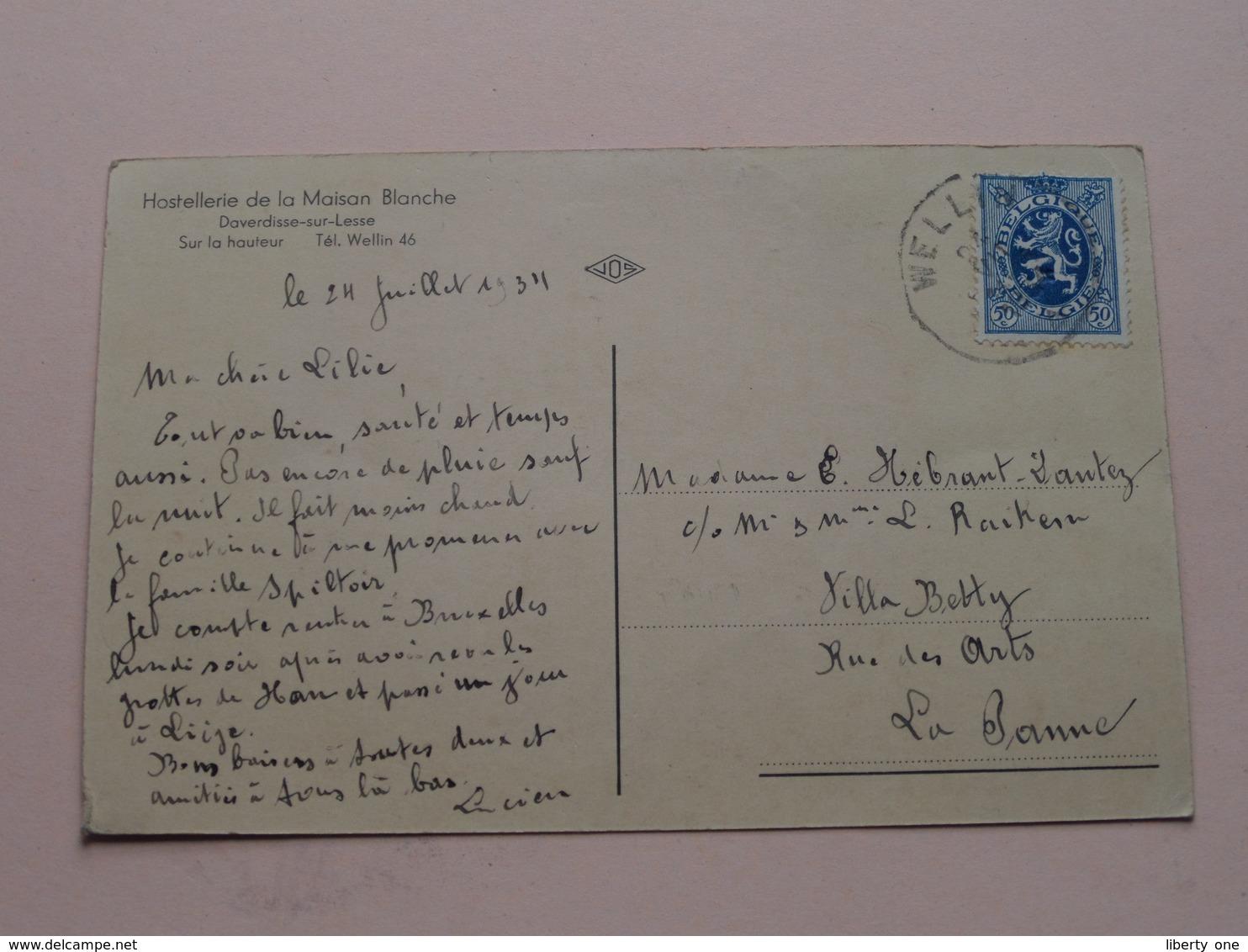 DAVERDISSE Sur Lesse (Ardenne) Le VIEUX Daverdisse ( JOS ) Hostellerie De La Maison Blanche / Anno 1934 ( Voir Photo ) ! - Daverdisse